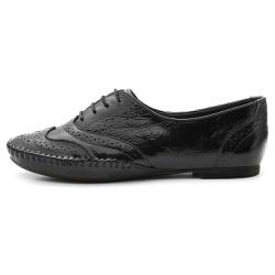 Sapato Social Feminino Top Franca Shoes Oxford Con... - Top Franca Shoes | Calçados confortáveis em Couro