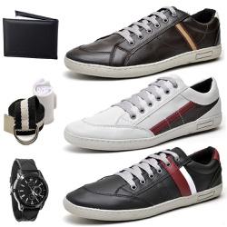 Kit Pares Sapatenis Masculino + Relogio + Carteir... - Top Franca Shoes   Calçados confortáveis em Couro