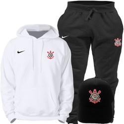 Kit Blusa Moleton Canguru Nike Corinthians + Calça... - Top Franca Shoes | Calçados confortáveis em Couro