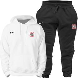 Kit Blusa Moletom Canguru Nike Corinthians + Calça - Top Franca Shoes   Calçados confortáveis em Couro