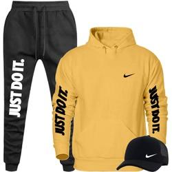 Kit Blusa Moleton Canguru Nike + Calça + Boné - Top Franca Shoes | Calçados confortáveis em Couro