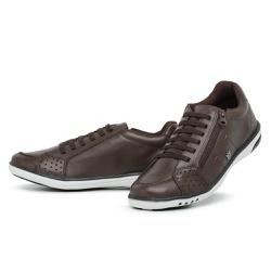 Tênis Sapatenis Masculino Casual Ziper Lateral Caf... - Diconfort Calçados | Calçados confortáveis e anatômicos