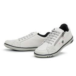 Tênis Sapatenis Masculino Casual Ziper Lateral Gel... - Top Franca Shoes | Calçados confortáveis em Couro