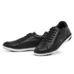 Tênis Sapatenis Masculino Casual Ziper Lateral Pre... - Top Franca Shoes | Calçados confortáveis em Couro