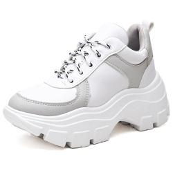 Tênis Sapatenis Feminino Esporte Sola Alta Branco - Top Franca Shoes | Calçados confortáveis em Couro