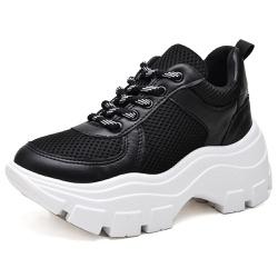 Tênis Sapatenis Feminino Esporte Sola Alta Preto - Top Franca Shoes   Calçados confortáveis em Couro