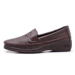 Sapatilha Slip On Feminino Top Franca Shoes Cafe 3... - Top Franca Shoes | Calçados confortáveis em Couro