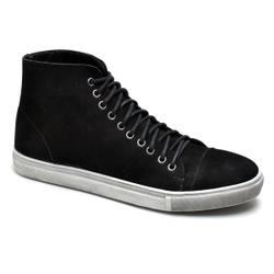 Sapatênis Cano Alto Preto - Top Franca Shoes | Calçados confortáveis em Couro