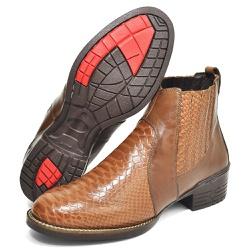 Bota Texana Country Masculina Escamada Caramelo - Top Franca Shoes | Calçados confortáveis em Couro