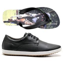 Kit Sapatenis Polo Culture + Chinelo - Top Franca Shoes   Calçados confortáveis em Couro