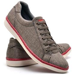 Sapatênis Masculino Casual Em Lona Cadarço Elastic... - Top Franca Shoes | Calçados confortáveis em Couro