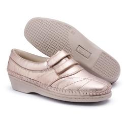 Tenis Sapatenis Conforto Top Franca Shoes Dourado - Top Franca Shoes | Calçados confortáveis em Couro