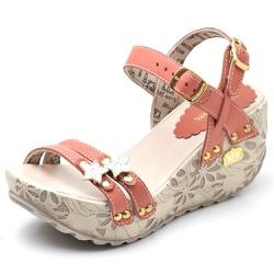 Sandália Feminina Betina Beker Plataforma AnaBela ... - Top Franca Shoes   Calçados confortáveis em Couro
