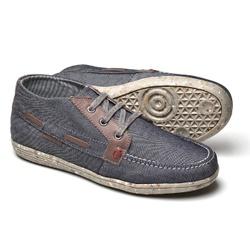 Tênis Cano Médio Reta Oposta - Top Franca Shoes | Calçados confortáveis em Couro