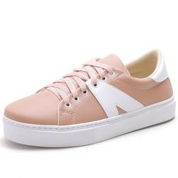 Tenis Sapatenis Feminino Top Franca Shoes Branco /... - Top Franca Shoes | Calçados confortáveis em Couro