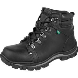 Bota Coturno Adventure Azimute Brasil Preto - Top Franca Shoes | Calçados confortáveis em Couro