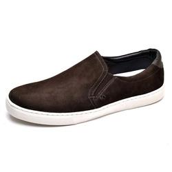 Sapatênis Masculino Slip On Top Franca Shoes Cafe - Top Franca Shoes | Calçados confortáveis em Couro