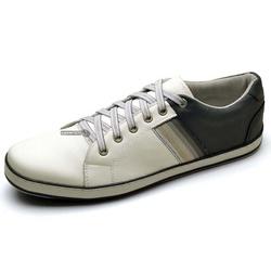 Sapatênis Masculino Top Franca Shoes Marinho/Branc... - Top Franca Shoes | Calçados confortáveis em Couro