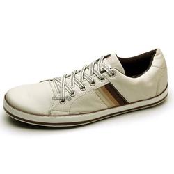 Sapatênis Masculino Top Franca Shoes Gelo - Top Franca Shoes | Calçados confortáveis em Couro