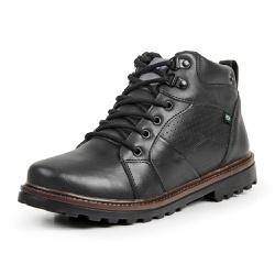 Bota Coturno Casual Masculino Top Franca Shoes Pre... - Top Franca Shoes   Calçados confortáveis em Couro