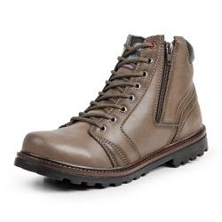 Bota Coturno Casual Masculino Top Franca Shoes Beg - Top Franca Shoes   Calçados confortáveis em Couro