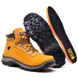 Bota Adventure Caterpillar Bege - Top Franca Shoes | Calçados confortáveis em Couro