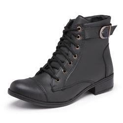 Bota Feminina Top Franca Shoes Cano Médio Preto - Top Franca Shoes | Calçados confortáveis em Couro