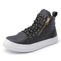 Botinha Feminina Top Franca Shoes Cano Médio Preta - Top Franca Shoes | Calçados confortáveis em Couro