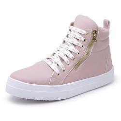 Botinha Feminina Top Franca Shoes Cano Médio Rosa - Top Franca Shoes | Calçados confortáveis em Couro