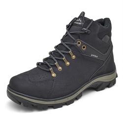 Bota Coturno Adventure Top Franca Shoes Preto - Top Franca Shoes   Calçados confortáveis em Couro