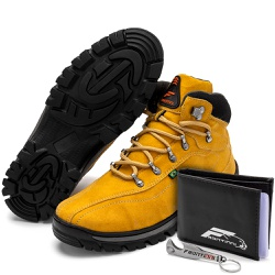 Kit Bota Coturno Adventure + Carteira + Abridor Am... - Top Franca Shoes | Calçados confortáveis em Couro