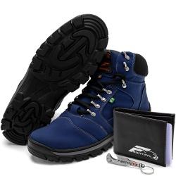Kit Bota Coturno Adventure + Carteira + Abridor Az... - Top Franca Shoes | Calçados confortáveis em Couro