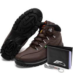 Kit Bota Coturno Adventure + Carteira + Abridor Ma... - Top Franca Shoes   Calçados confortáveis em Couro