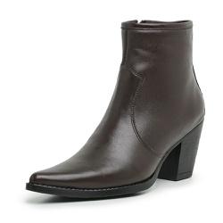 Bota Botina Country Feminina Top Franca Shoes Café - Top Franca Shoes | Calçados confortáveis em Couro