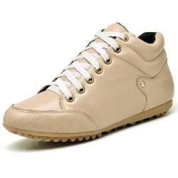 Bota Botinha Casual Top Franca Shoes Nude - Top Franca Shoes | Calçados confortáveis em Couro