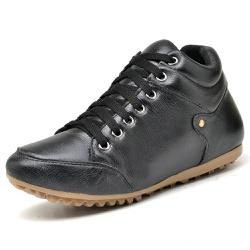 Bota Botinha Casual Top Franca Shoes Preto - Top Franca Shoes | Calçados confortáveis em Couro