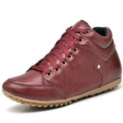 Bota Botinha Casual Top Franca Shoes Vermelho - Top Franca Shoes | Calçados confortáveis em Couro