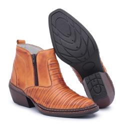 Bota Country Masculina Tatu Whisky - Top Franca Shoes | Calçados confortáveis em Couro