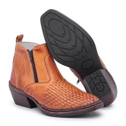 Bota Country Masculina Trice Whisky - Top Franca Shoes | Calçados confortáveis em Couro