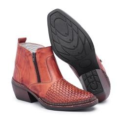 Bota Country Masculina Trice Pinhão - Top Franca Shoes | Calçados confortáveis em Couro