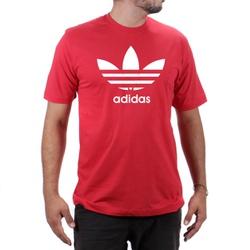 Camiseta Algodão Adidas Vermelha - Top Franca Shoes | Calçados confortáveis em Couro