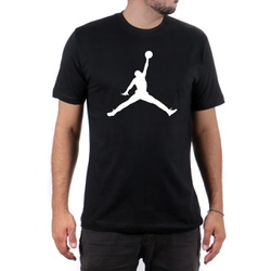 Camiseta Algodão Jordan Preto - Top Franca Shoes | Calçados confortáveis em Couro