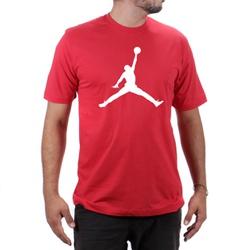Camiseta Algodão Jordan Vermelho - Top Franca Shoes | Calçados confortáveis em Couro