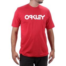 Camiseta Algodão Oakley Vermelho - Top Franca Shoes | Calçados confortáveis em Couro