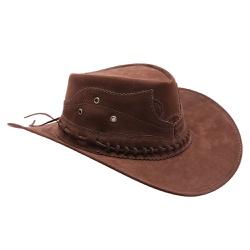 Chapéu Cowboy Rodeio Masculino E Feminino Marrom - Top Franca Shoes | Calçados confortáveis em Couro