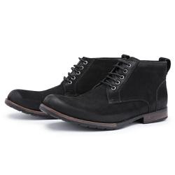 Bota Coturno Top Franca Shoes Preto - Top Franca Shoes   Calçados confortáveis em Couro