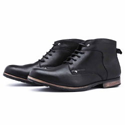 Bota Coturno Top Franca Shoes Preto - Top Franca Shoes | Calçados confortáveis em Couro