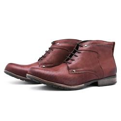 Bota Coturno Top Franca Shoes Café - Top Franca Shoes | Calçados confortáveis em Couro