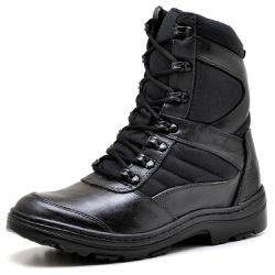 Bota Coturno Militar Motociclista Top Franca Shoes... - Top Franca Shoes | Calçados confortáveis em Couro