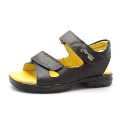 Sandália Papete Masculina Ortopédica Anatomica de ... - Top Franca Shoes | Calçados confortáveis em Couro